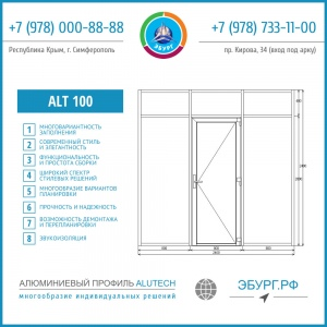 Алюминиевые двери Симферополь, Севастополь, Ялта, Евпатория. Двери Крым